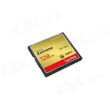 Sandisk Extreme CompactFlash 128Gb 120Mb/s.