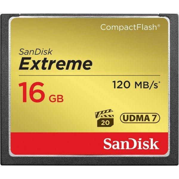 Sandisk Extreme CompactFlash 16Gb 120Mb/s.