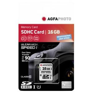 AGFA SD-KORT 16GB (HIGH SPEED CLASS 10)