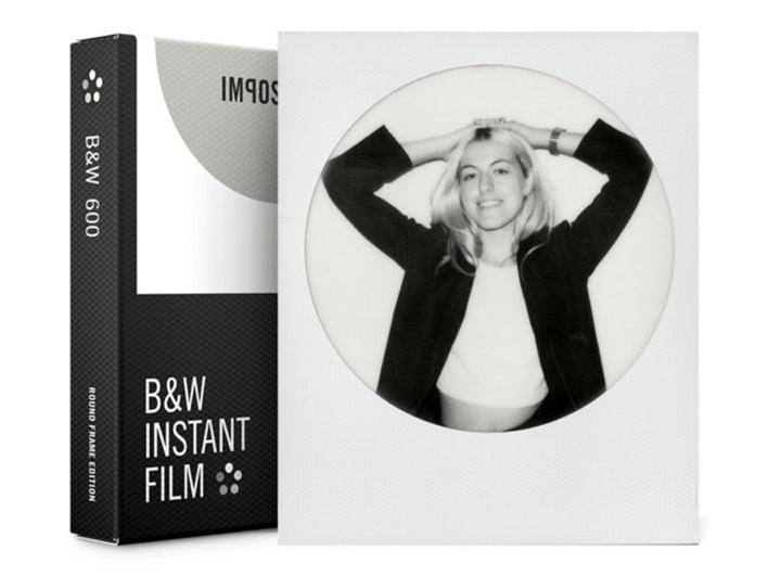 IMPOSSIBLE B&W FILM TIL 600 RUND RAMME