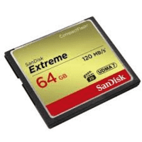 Sandisk Extreme CompactFlash 64Gb 120Mb/s.