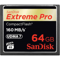 Sandisk Extreme Pro CompactFlash 64Gb 160Mb/s.